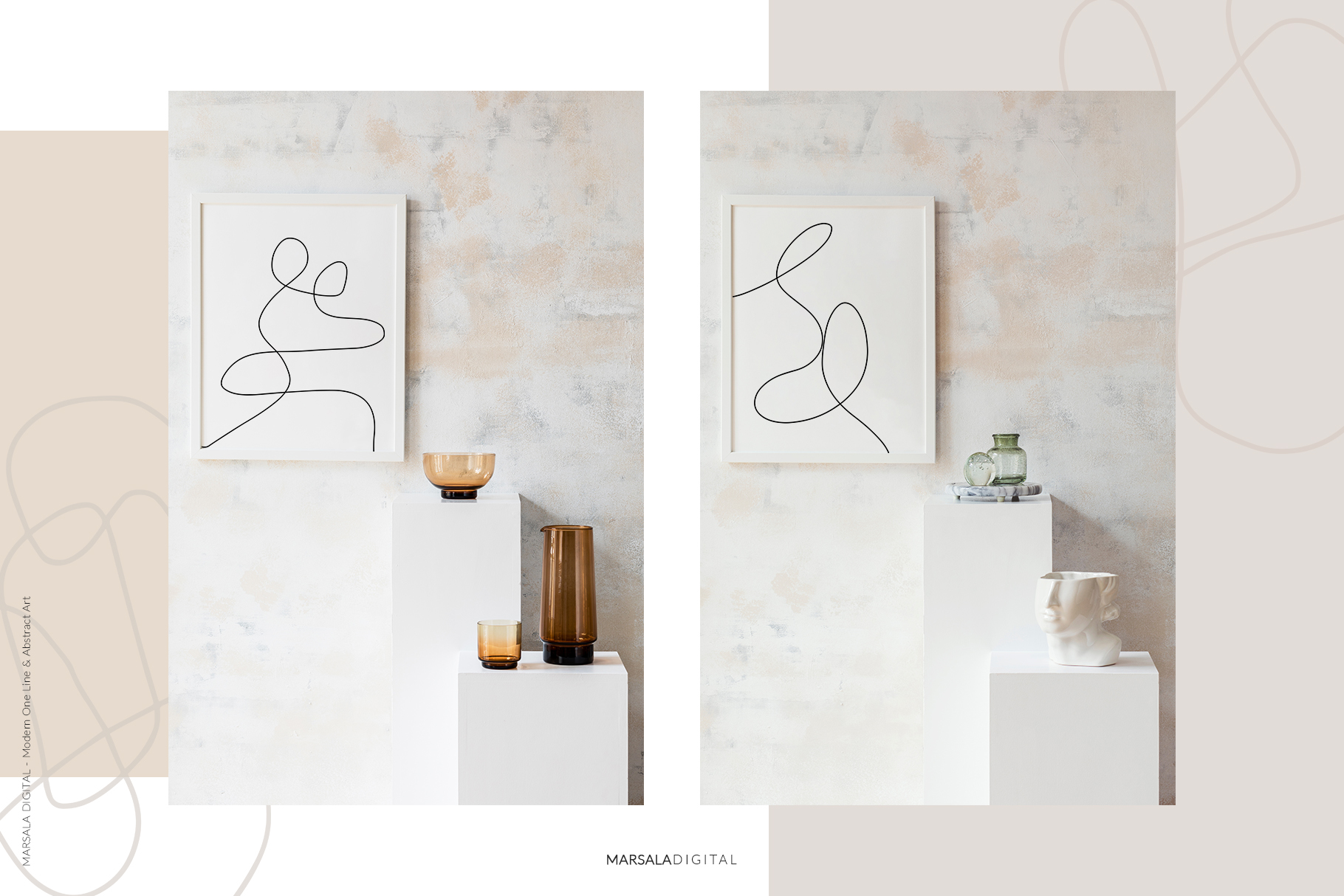 MODERN ART One Line and Abstract Graphics Prints example image 15
