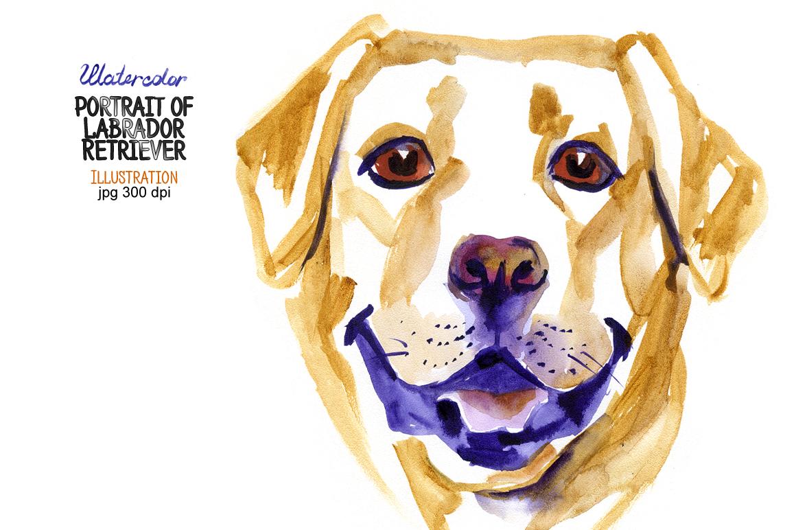 Watercolor Labrador Retriever example image 1