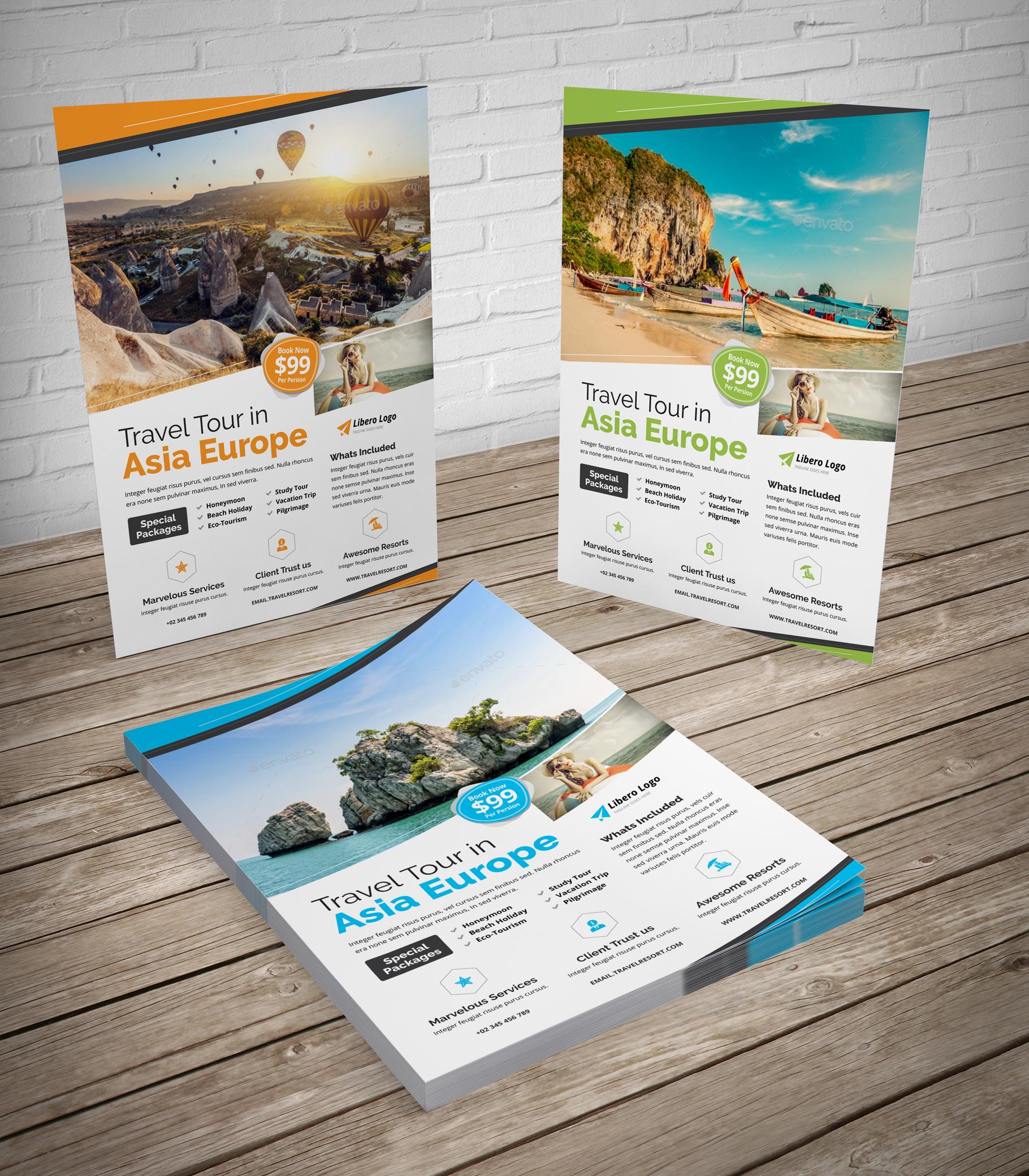 Travel Resort Flyer Design v2 example image 2