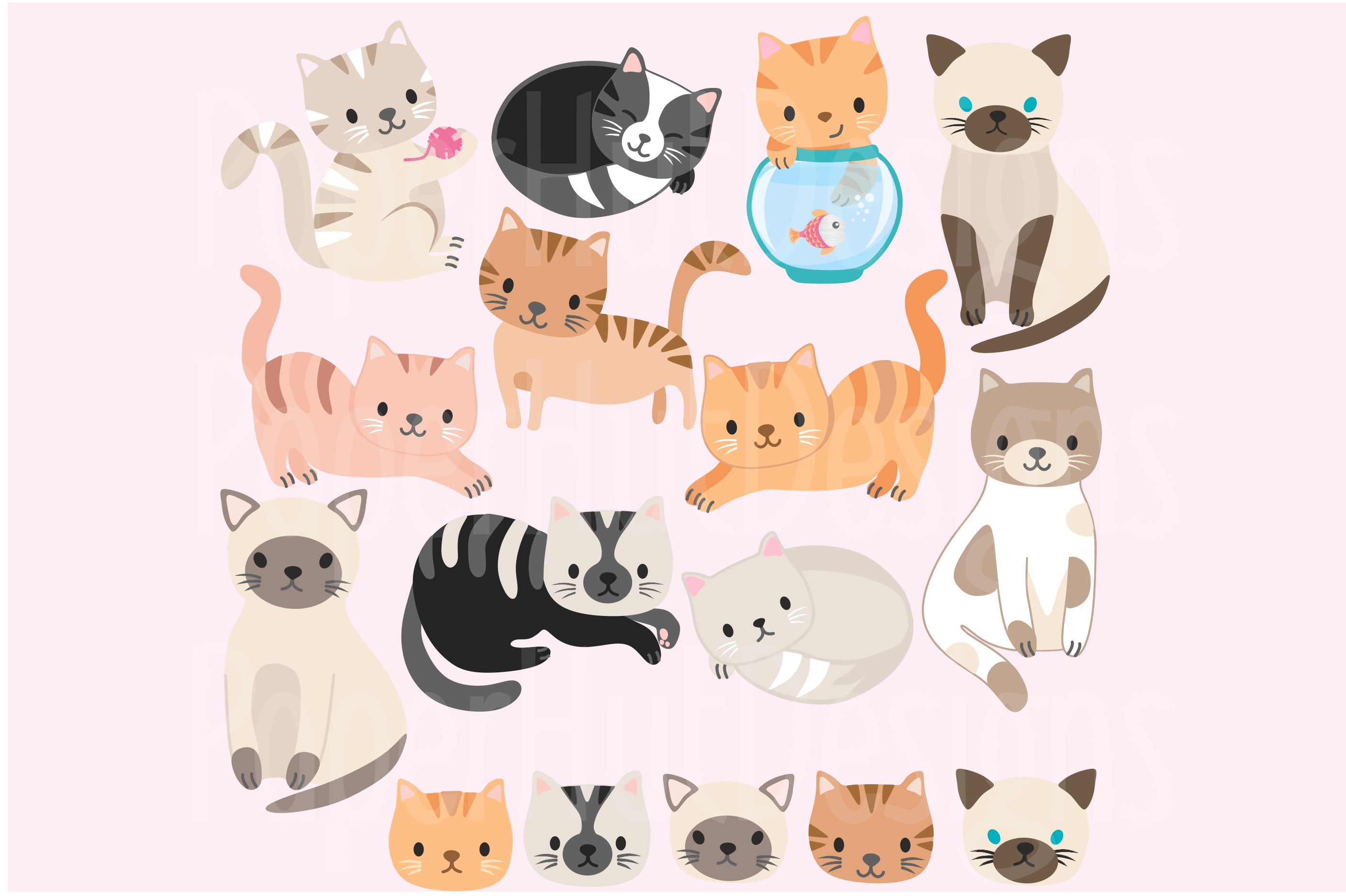 Cute Cats Clipart Part 2 example image 2