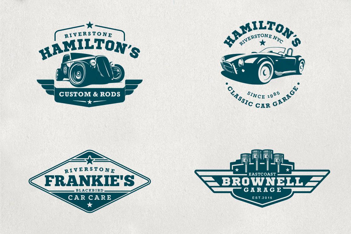 Classic Car Garage Badges & Logos example image 3