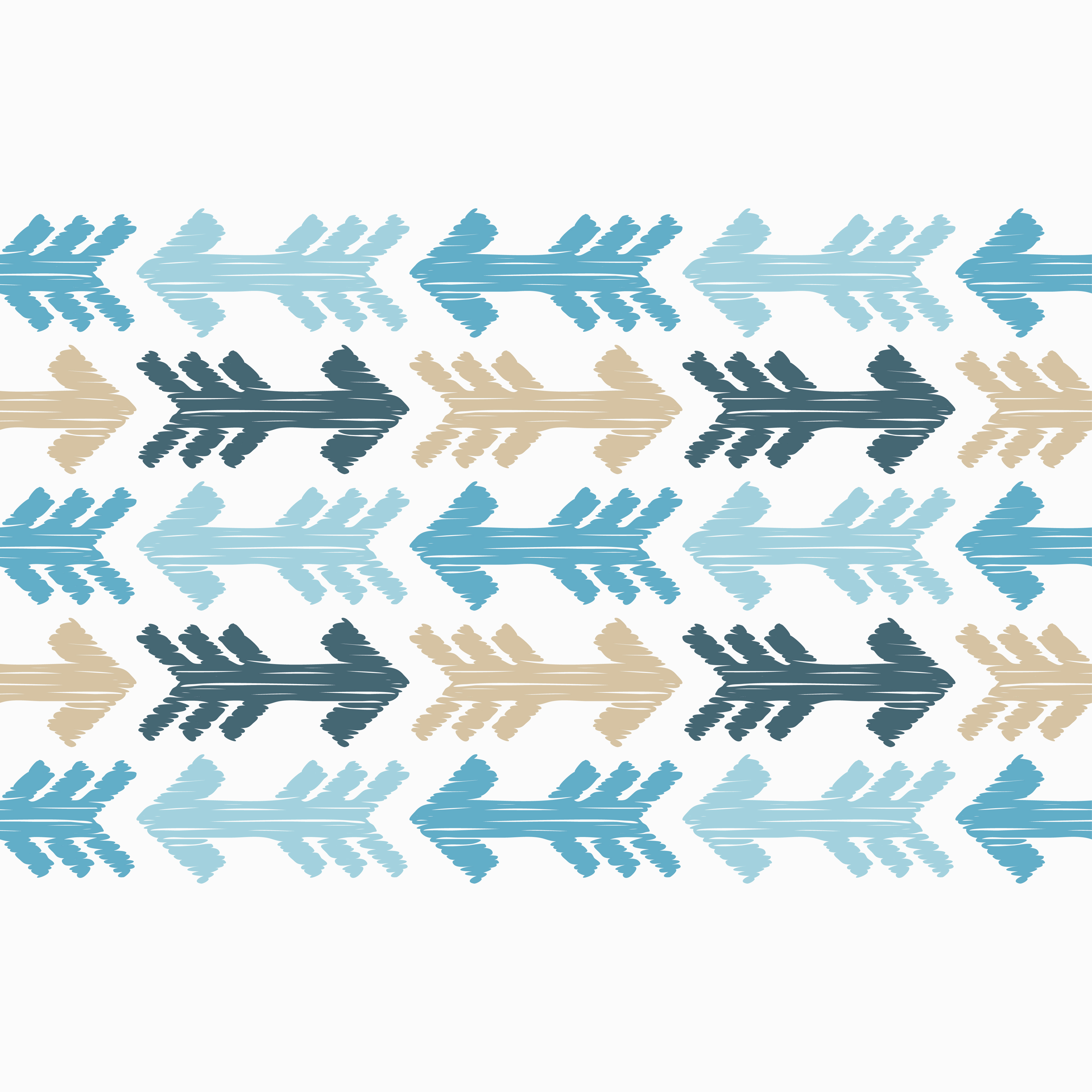 6 Ethnic boho seamless pattern. Arrows scribble texture.  example image 3