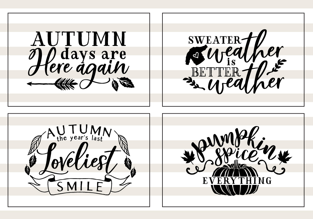 Pumpkin & Fall Quote SVG Cut File Bundle example image 5