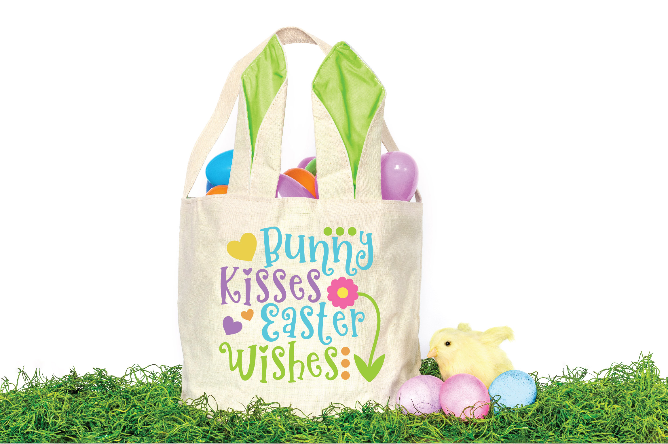 Easter SVG Cut File - Bunny Kisses Easter Wishes SVG DXF EPS example image 2