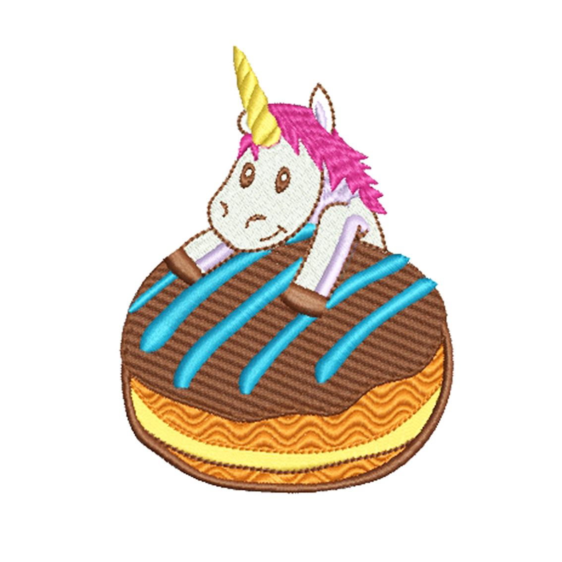 9 Unicorn Machine Embroidery Designs example image 6