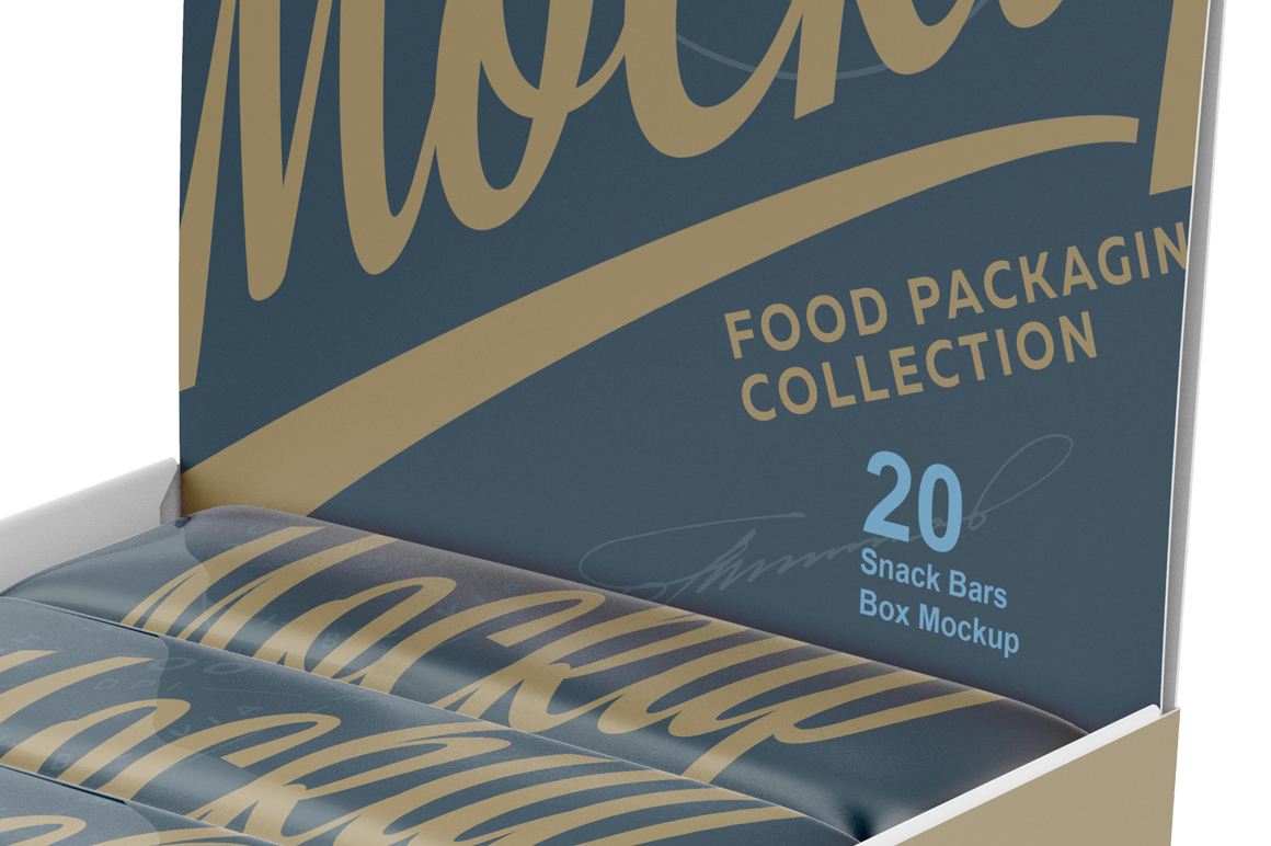 Snack Bars and Display Box Mockup example image 5