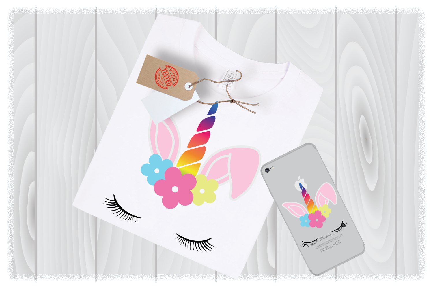 Unicorn easter bunny Svg Files for Cricut Designs example image 1