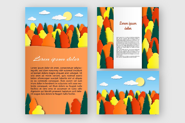 Autumn landscape paper cut example image 2