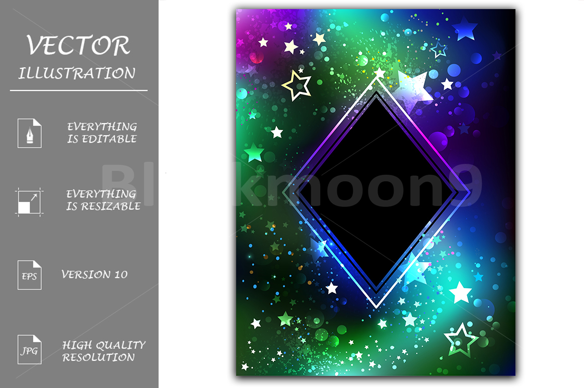 Black Rhombus with Northern Lights example image 1