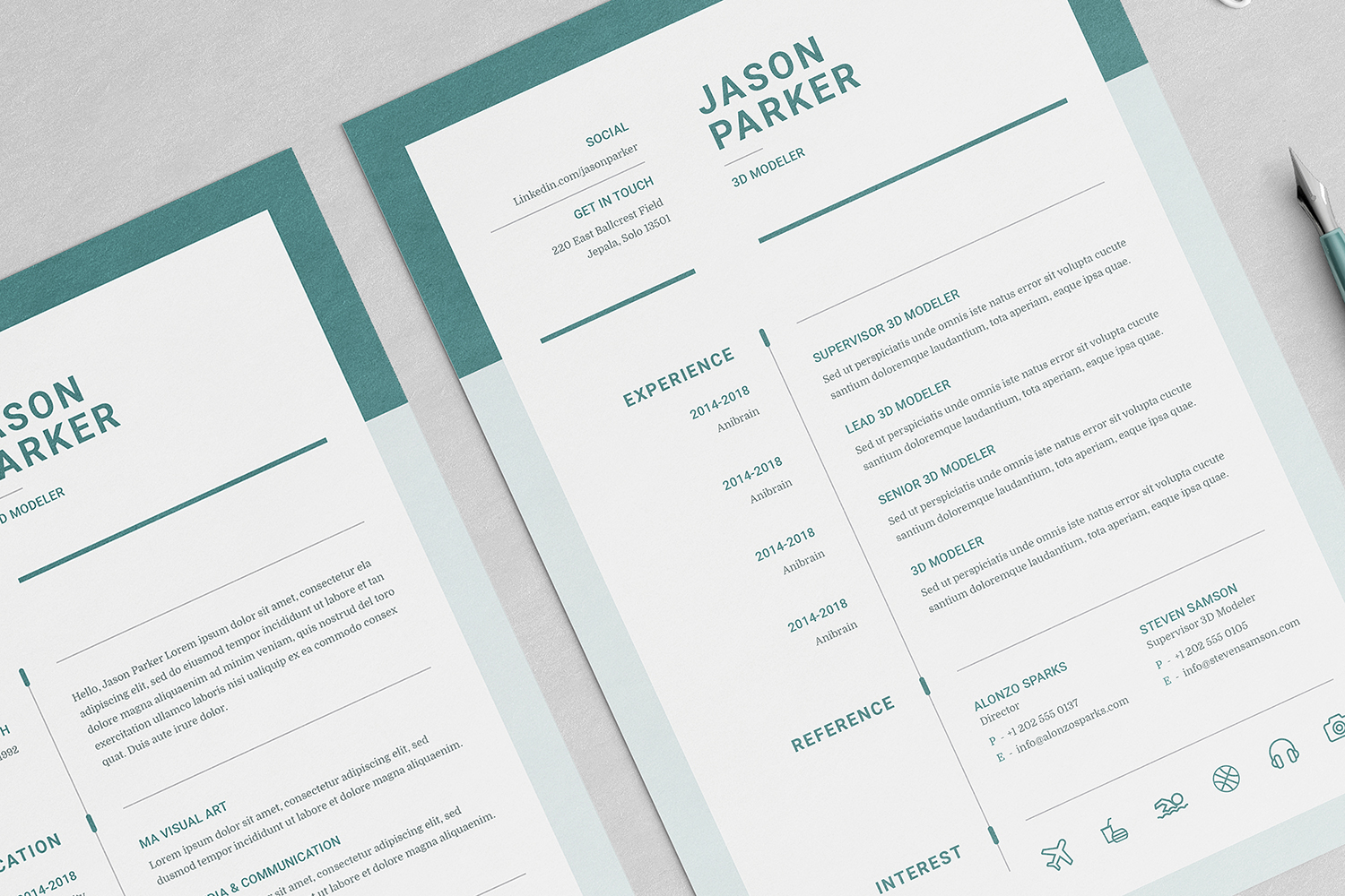 Jason Resume with Cover Letter Professional Template example image 4