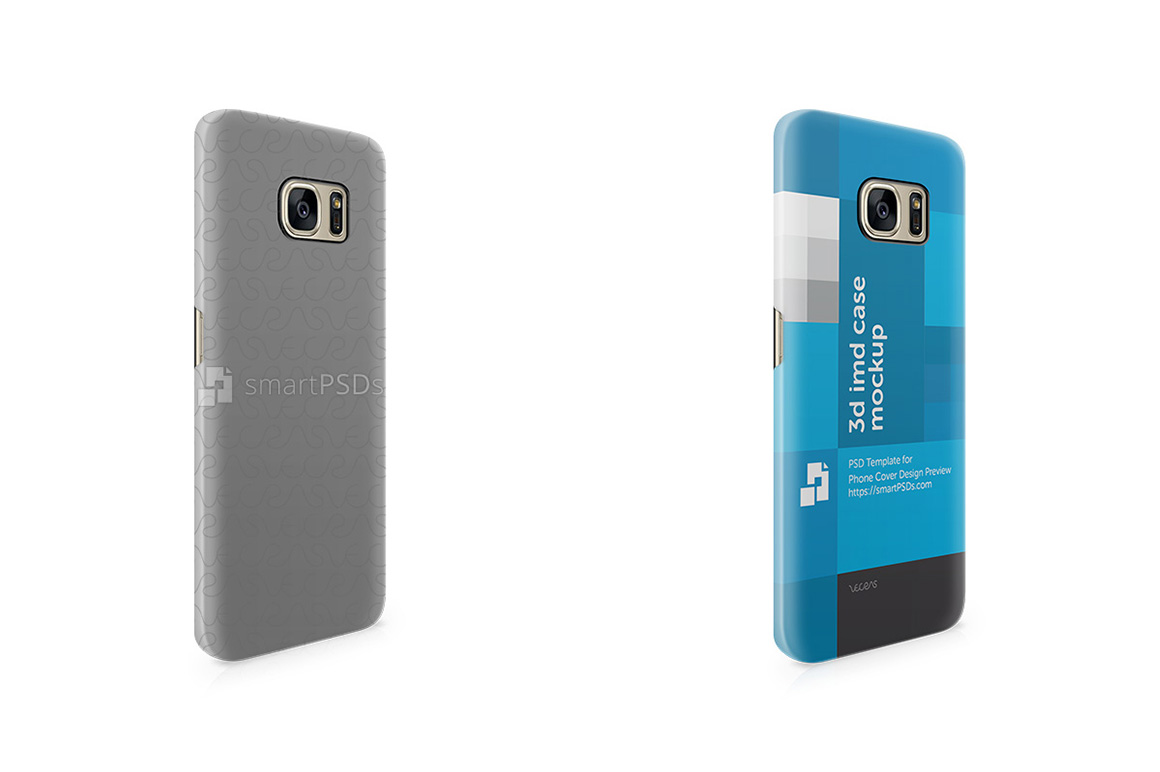 Samsung Galaxy S7 Edge 3d IMD Mobile Case Design Mockup -Right View 2016 example image 2