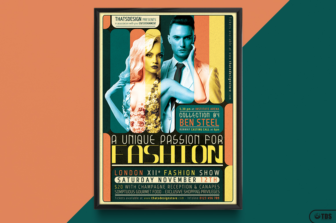 Fashion Show Flyer Template V1 example image 6