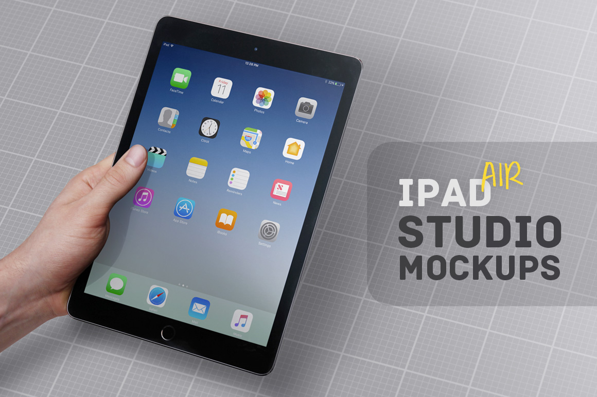iPad Air Studio Mockups example image 1