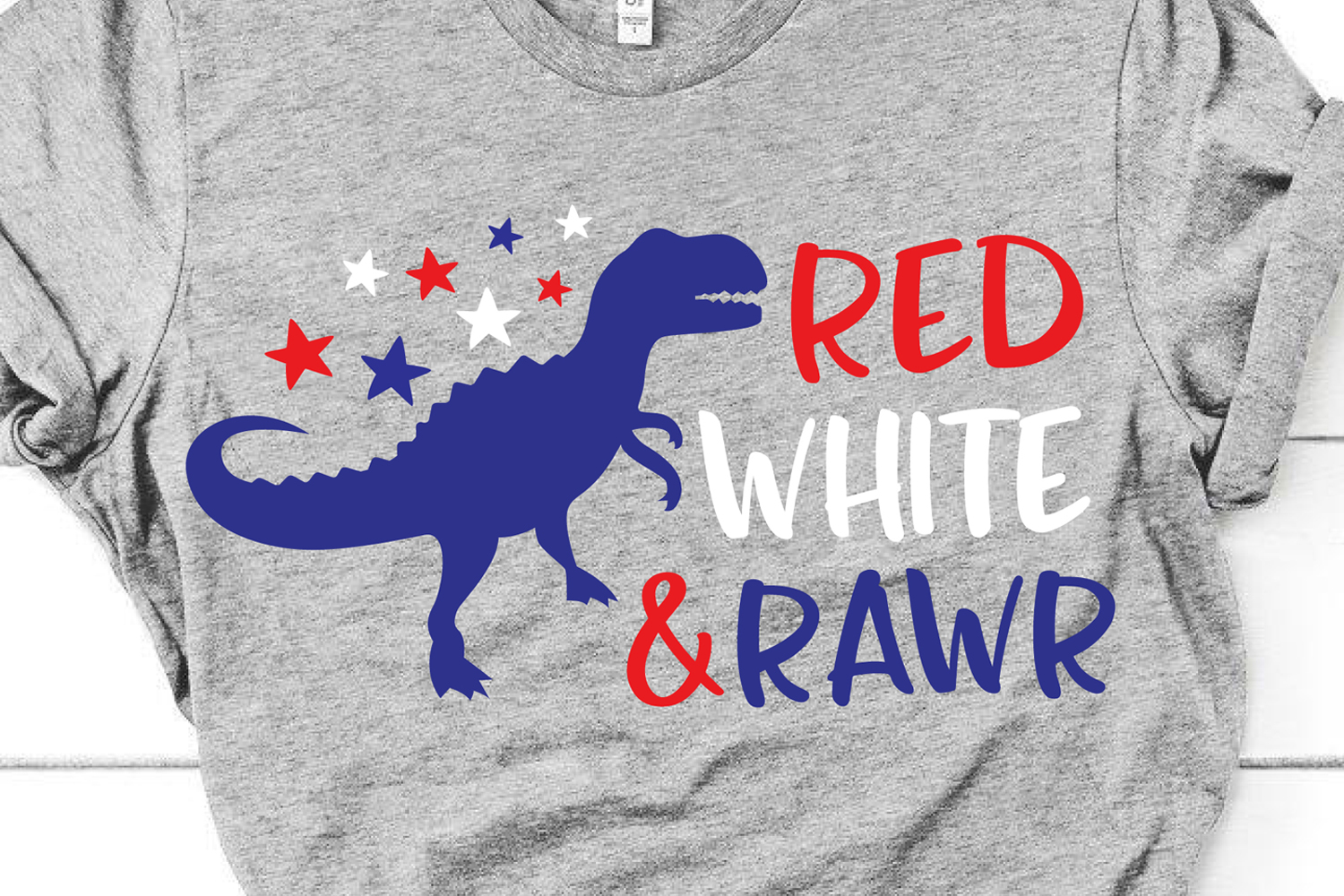 4th of July Dinosaur Svg, Boy Svg for Cricut & Silhouette example image 1