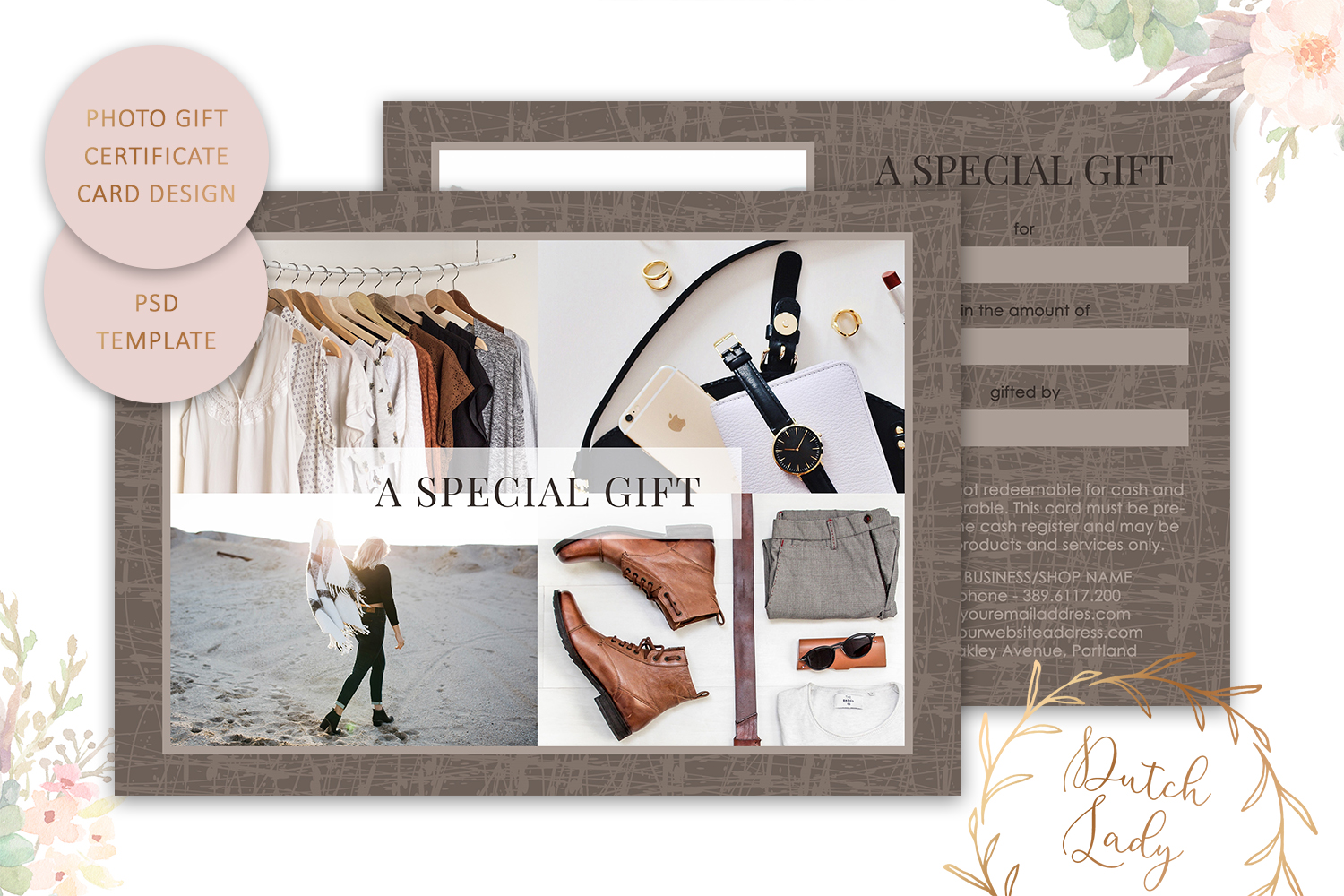 Photo Gift Card Template for Adobe Photoshop - #29 example image 1