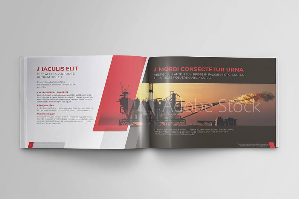 Offshore Oil and Gas Booklet Design Template example image 3