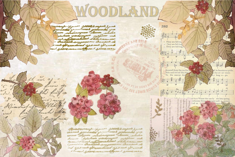 Winter Garden Backgrounds with Free Ephemera. Journaling Kit example image 3