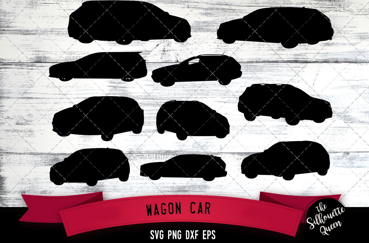 Wagon Car Silhouette Vector svg file example image 1