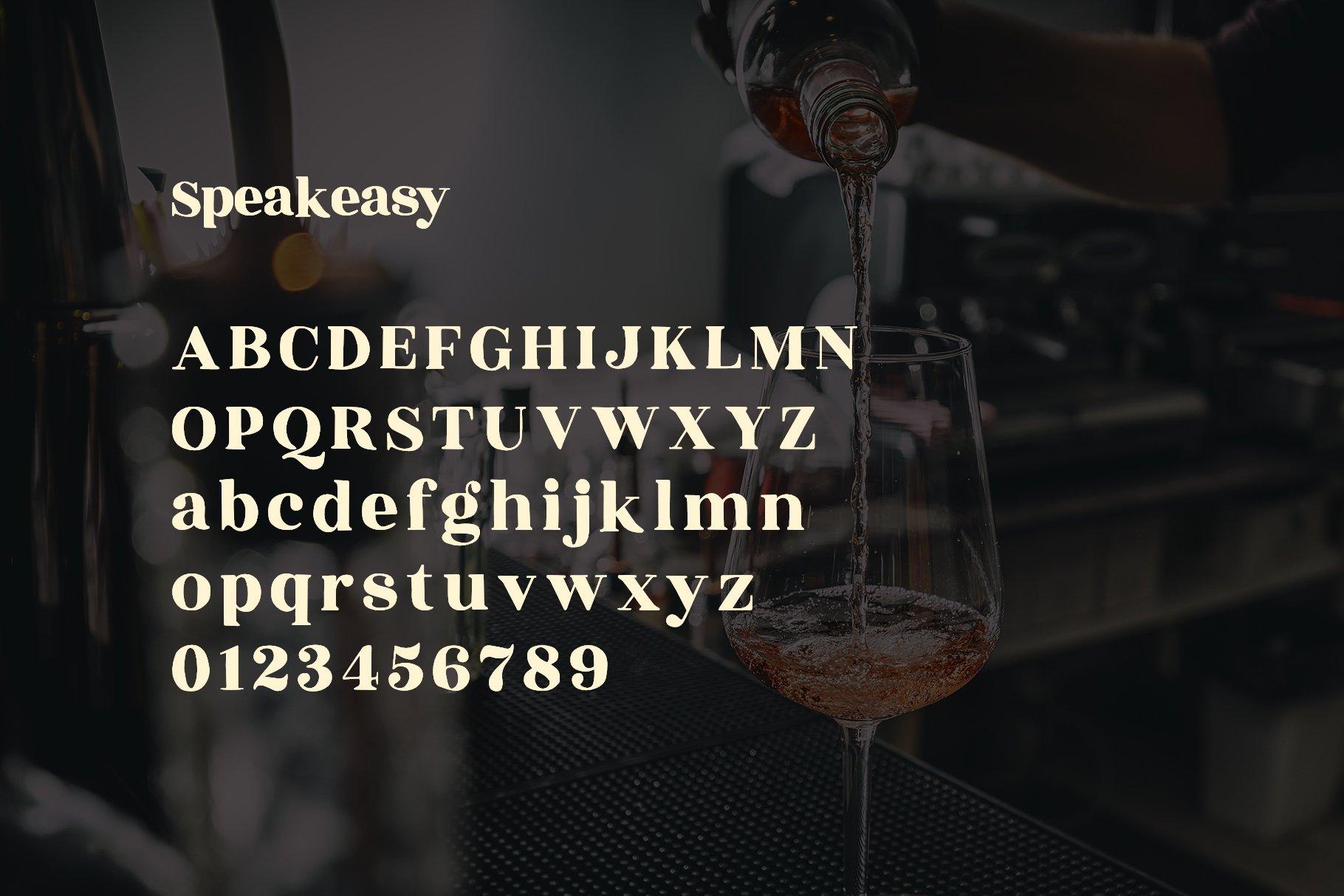 Speakeasy | A Classy Serif example image 2