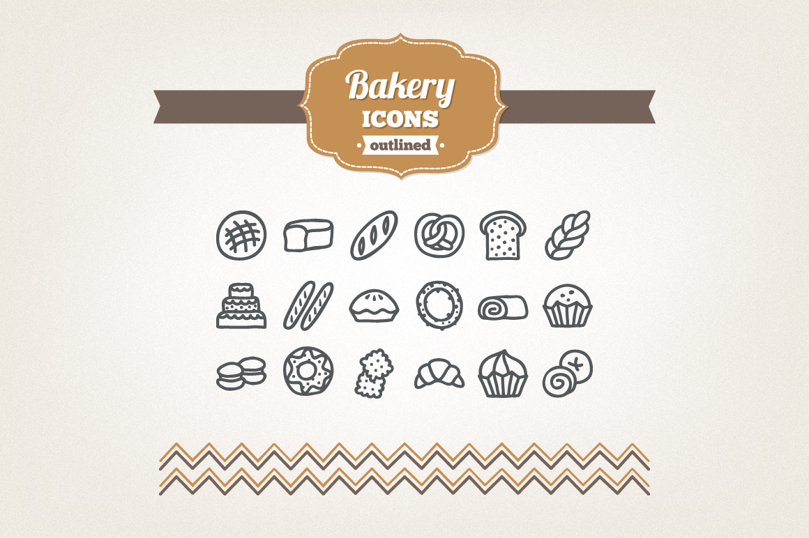 Hand Drawn Bakery Icons example image 1