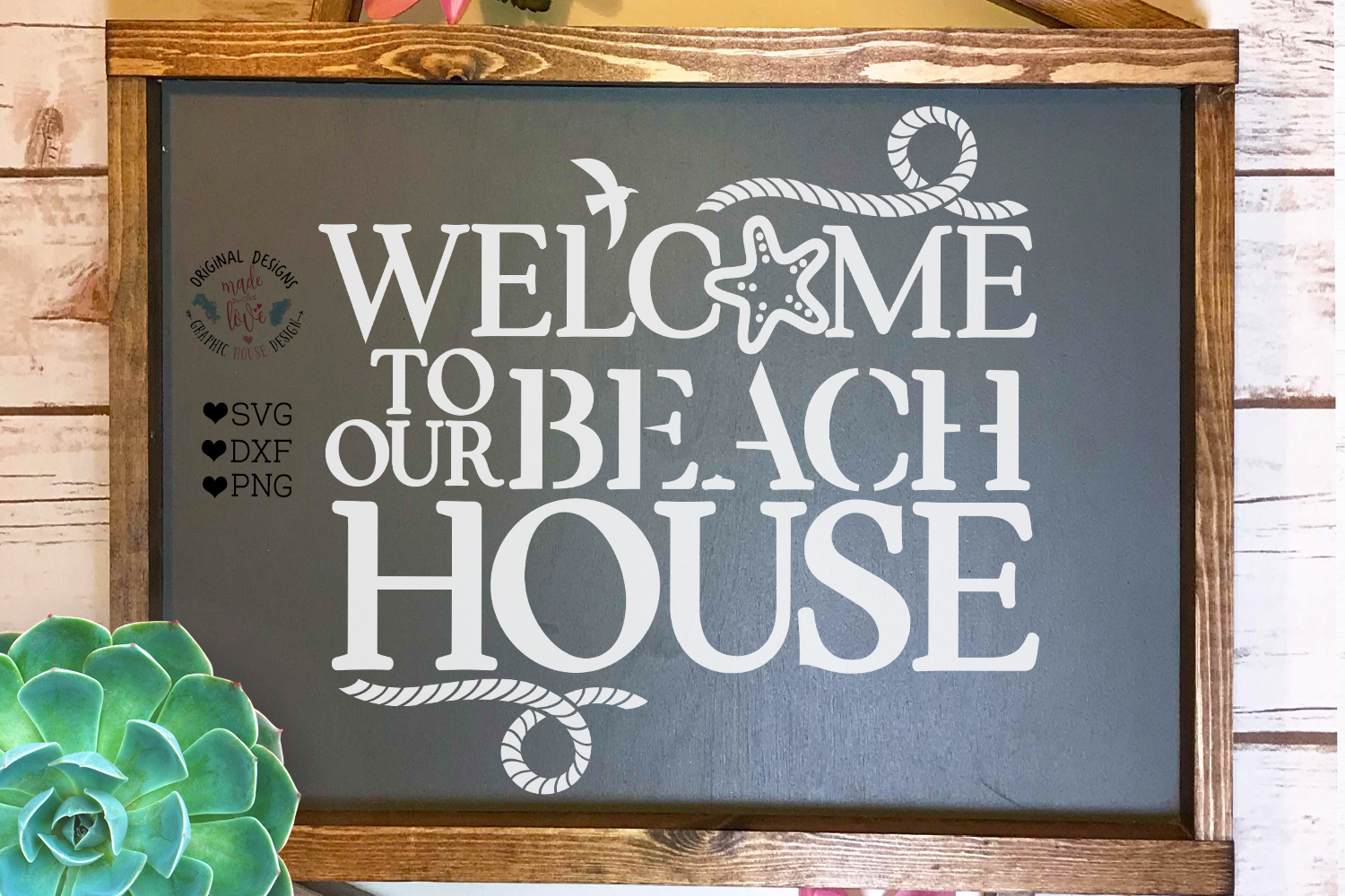 Welcome To Our Beach House - Summer Home Cut File example image 1