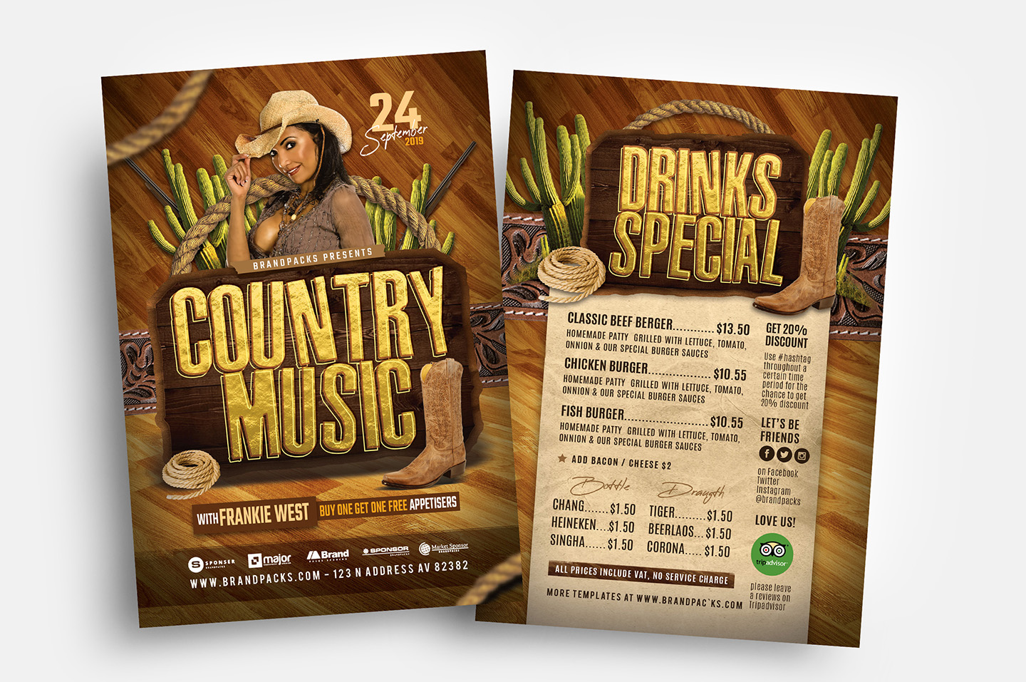 Country Music Flyer Template example image 2