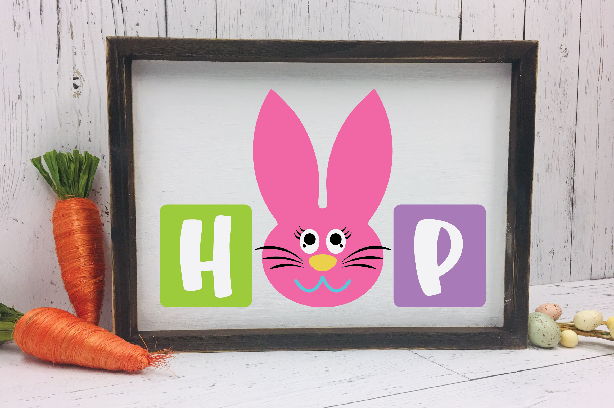 Easter SVG Cut File - Hop SVG DXF EPS PNG AI example image 4