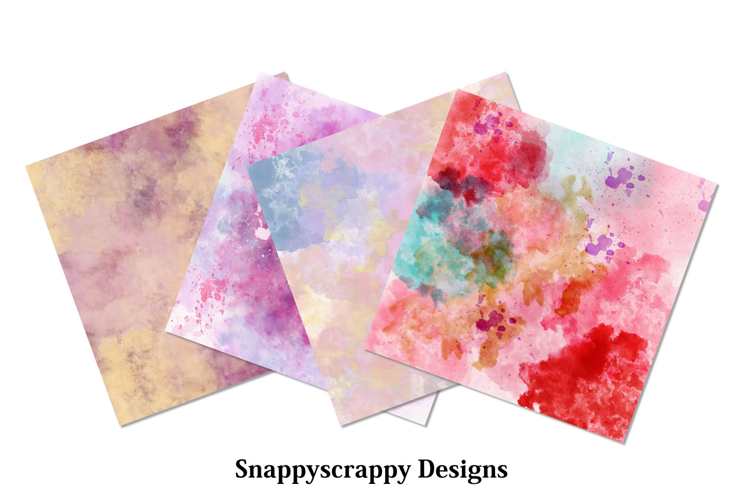 Watercolour Splash Background Papers example image 2