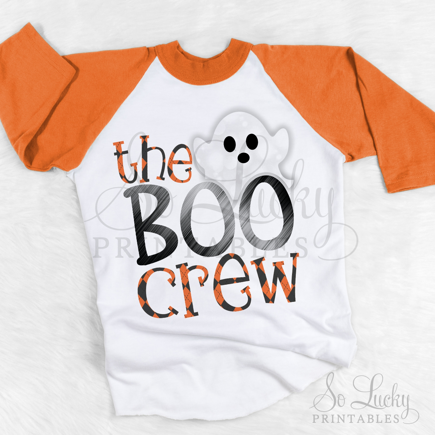 The boo crew watercolor printable sublimation design example image 2
