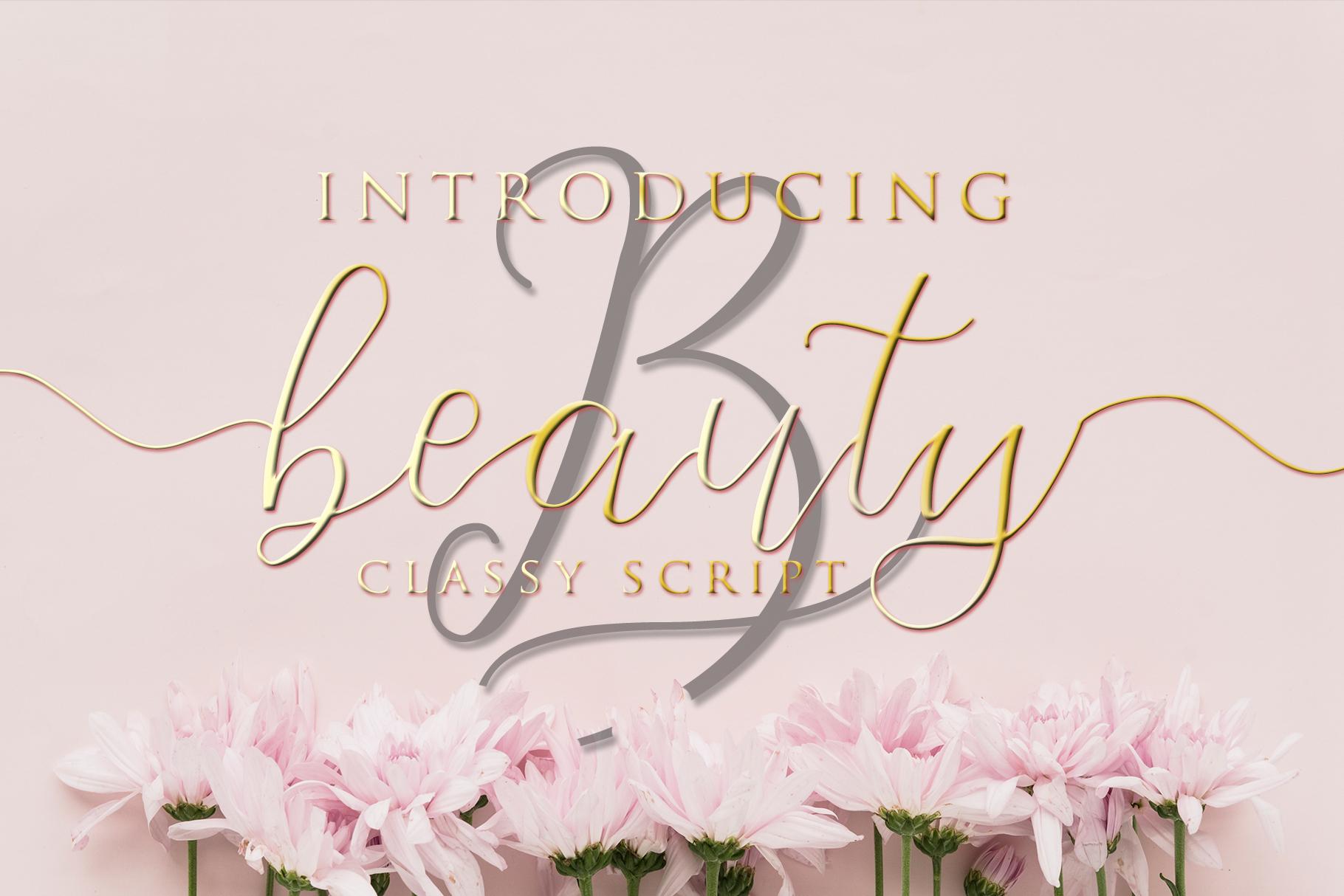 Beauty - Classy Script example image 1