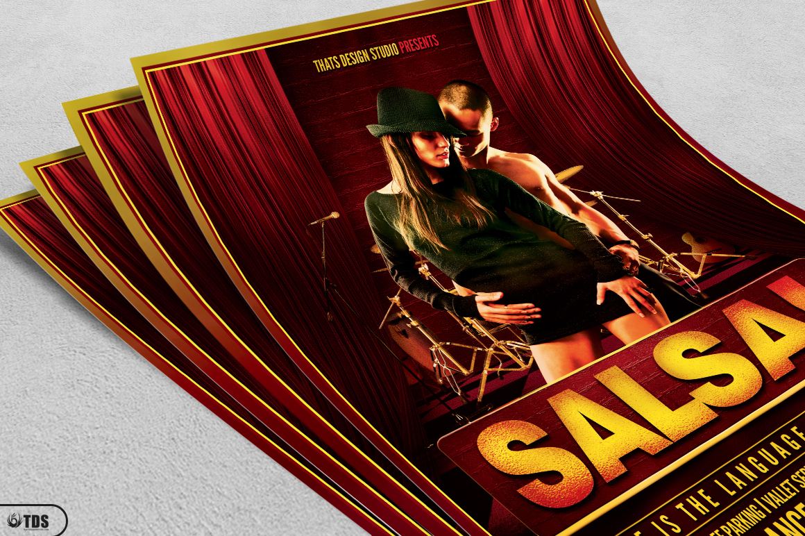 Salsa Caliente Flyer Template example image 3