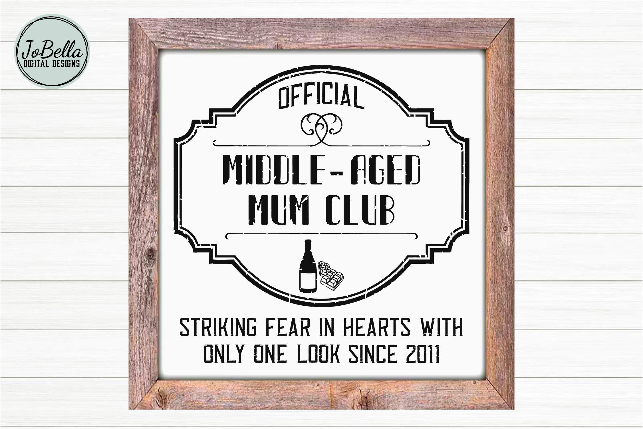 Middle-Aged Mum SVG, Sublimation PNG and Printable example image 2