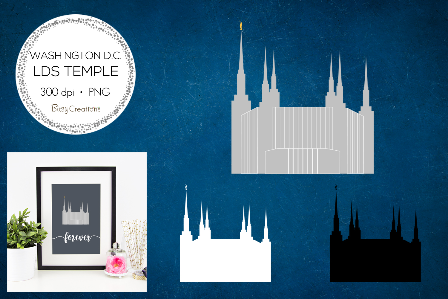 Washington D.C. LDS Temple Clipart example image 1