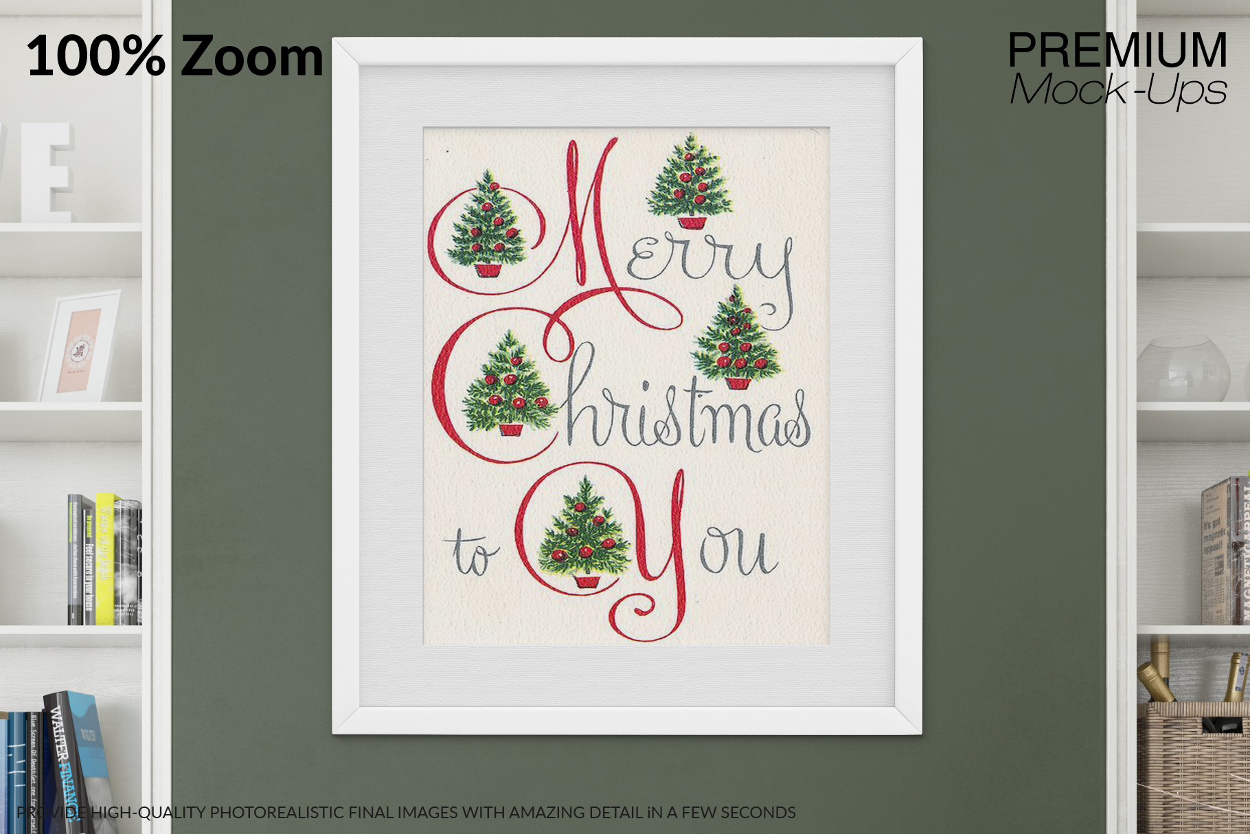 Christmas Living Room Set - Throw Pillows Frames & Wall example image 16