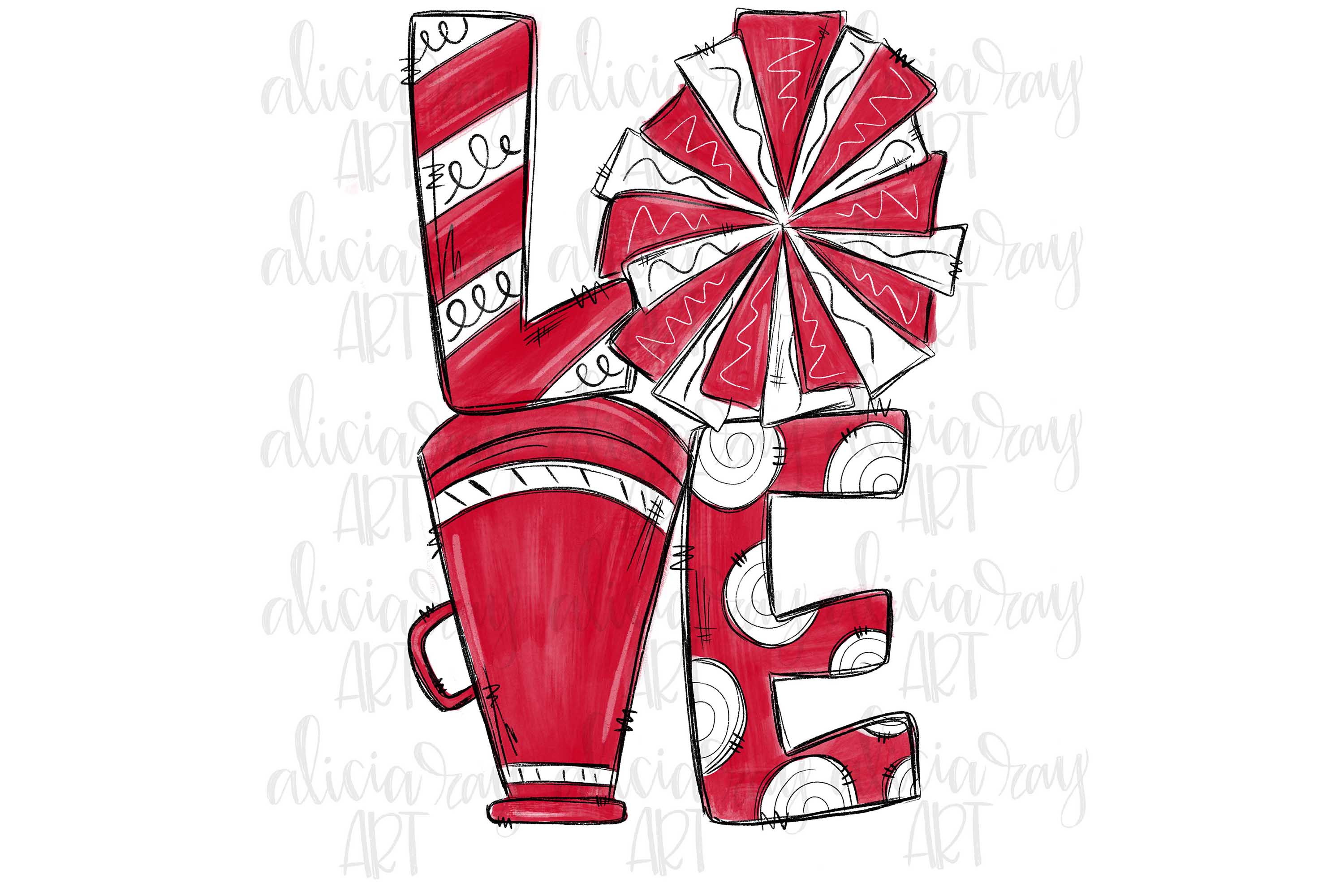 Cheer Love Crimson and White example image 1