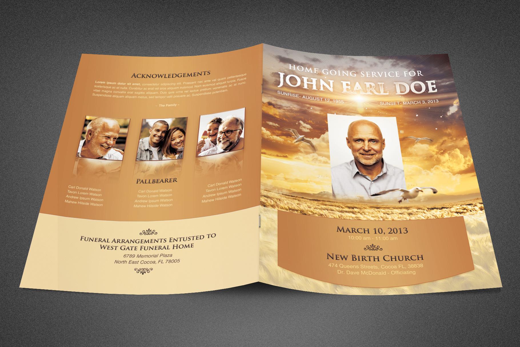 Heavens Gift Funeral Program example image 2