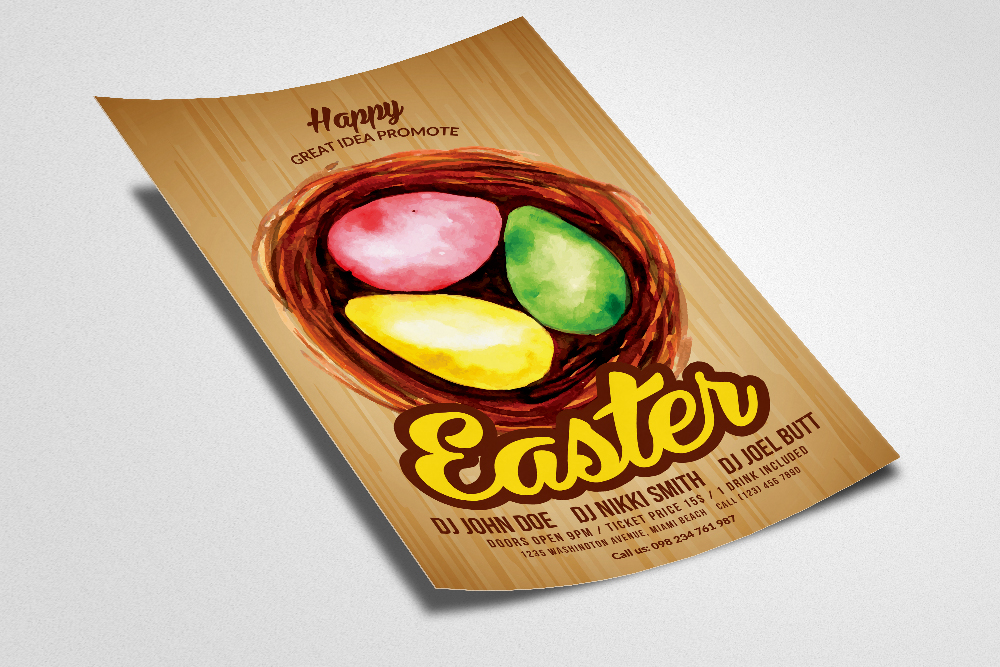 Spring and Easter Flyer Templates example image 2