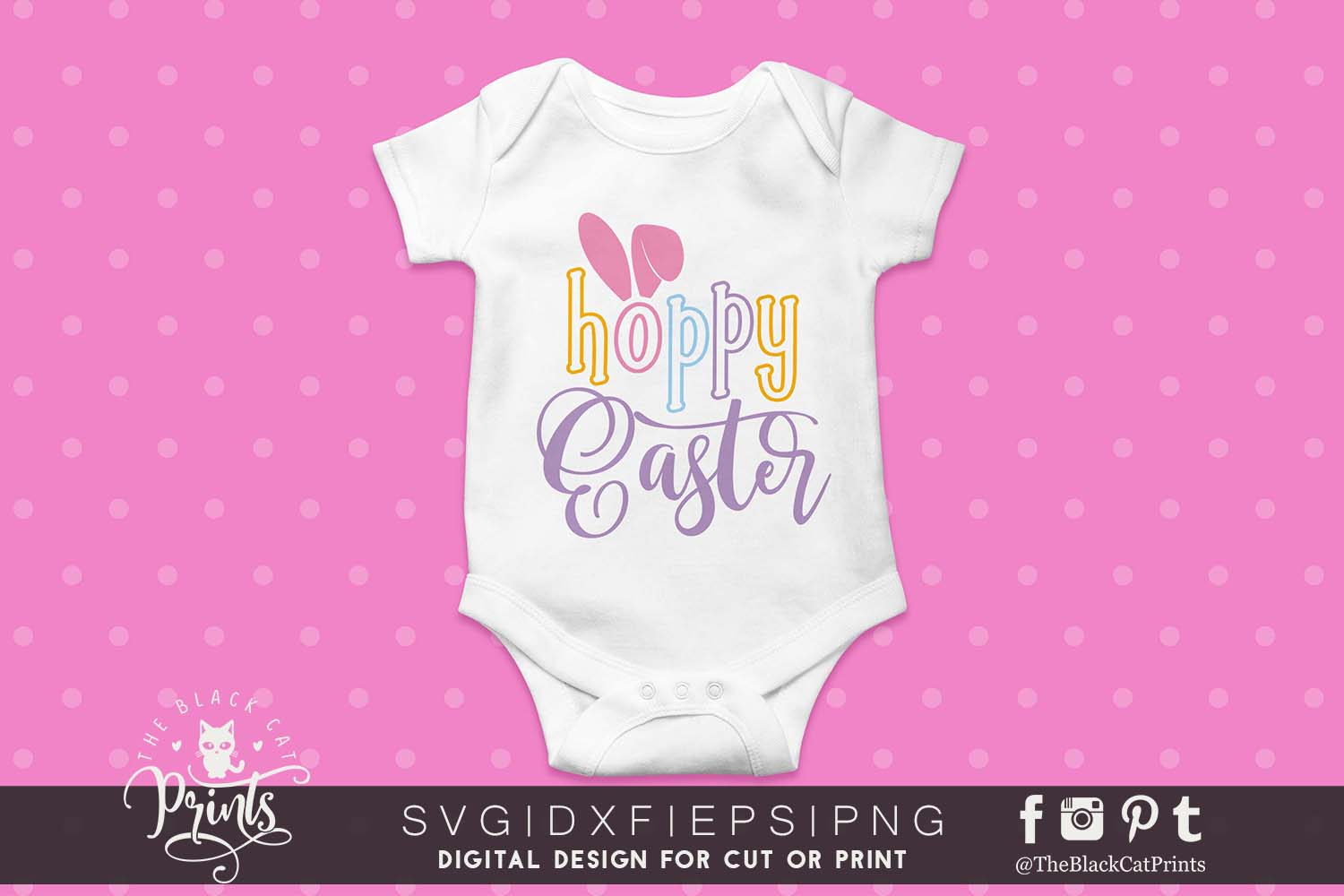 Hoppy Easter SVG DXF PNG EPS example image 3