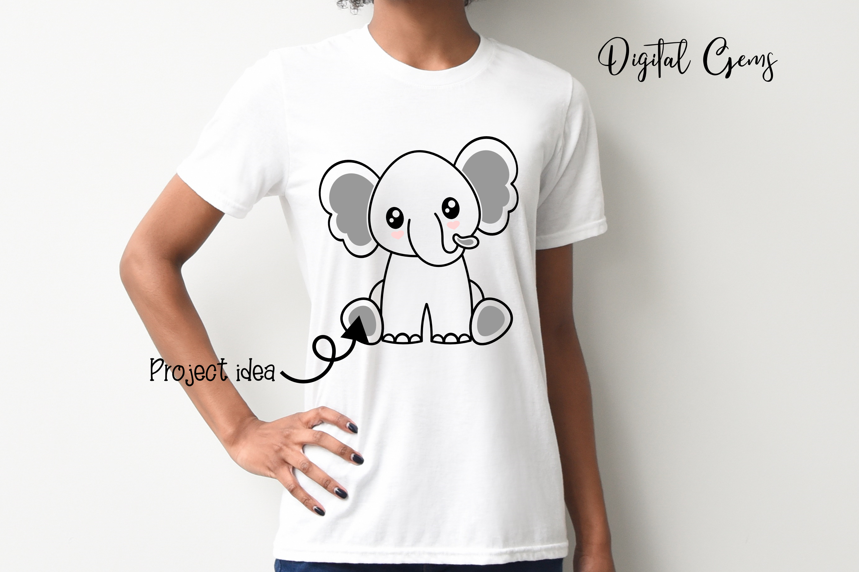 Elephant design SVG / DXF / EPS / PNG files example image 3