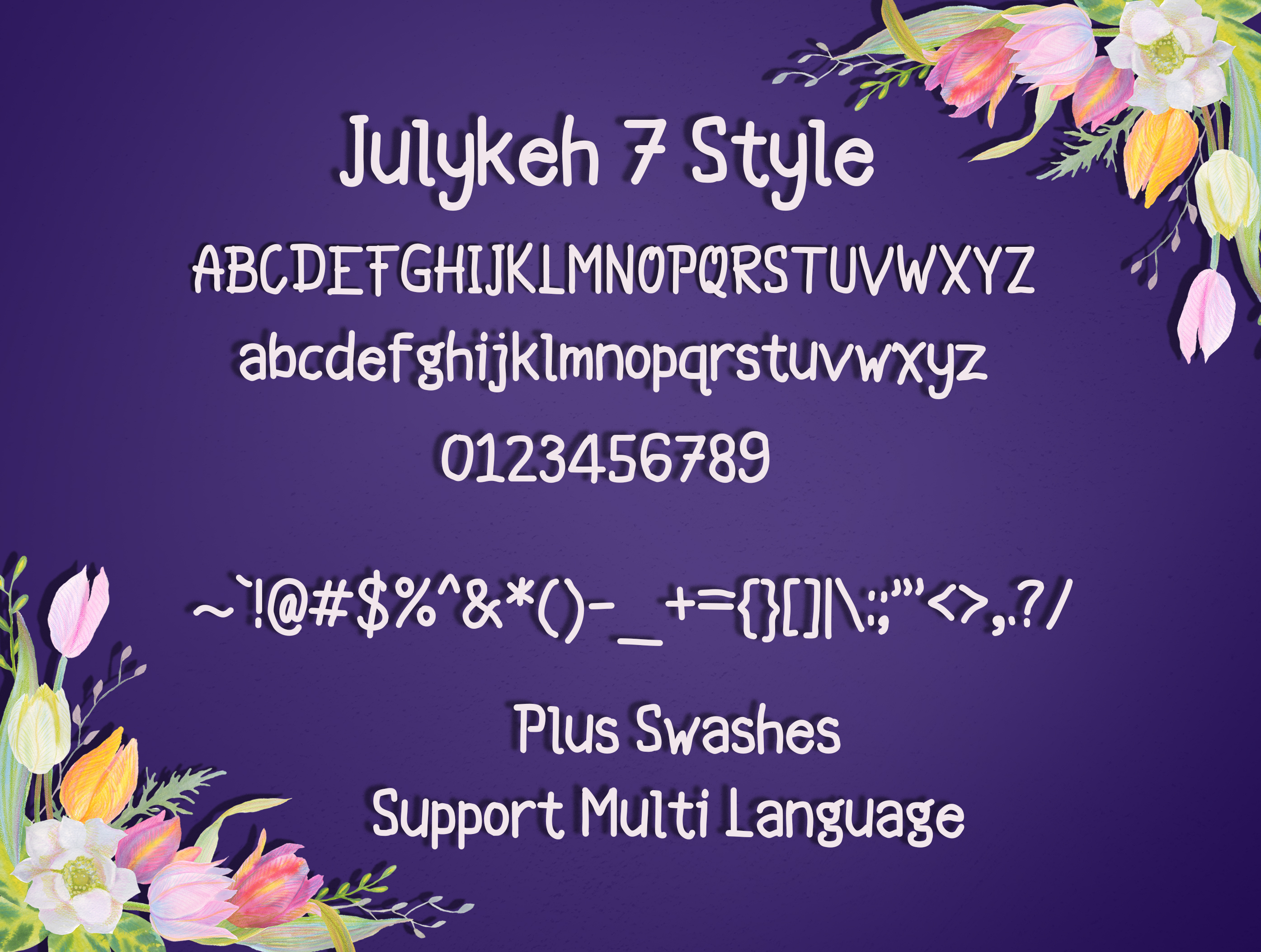 Julykeh handmade 7 Style Font example image 5