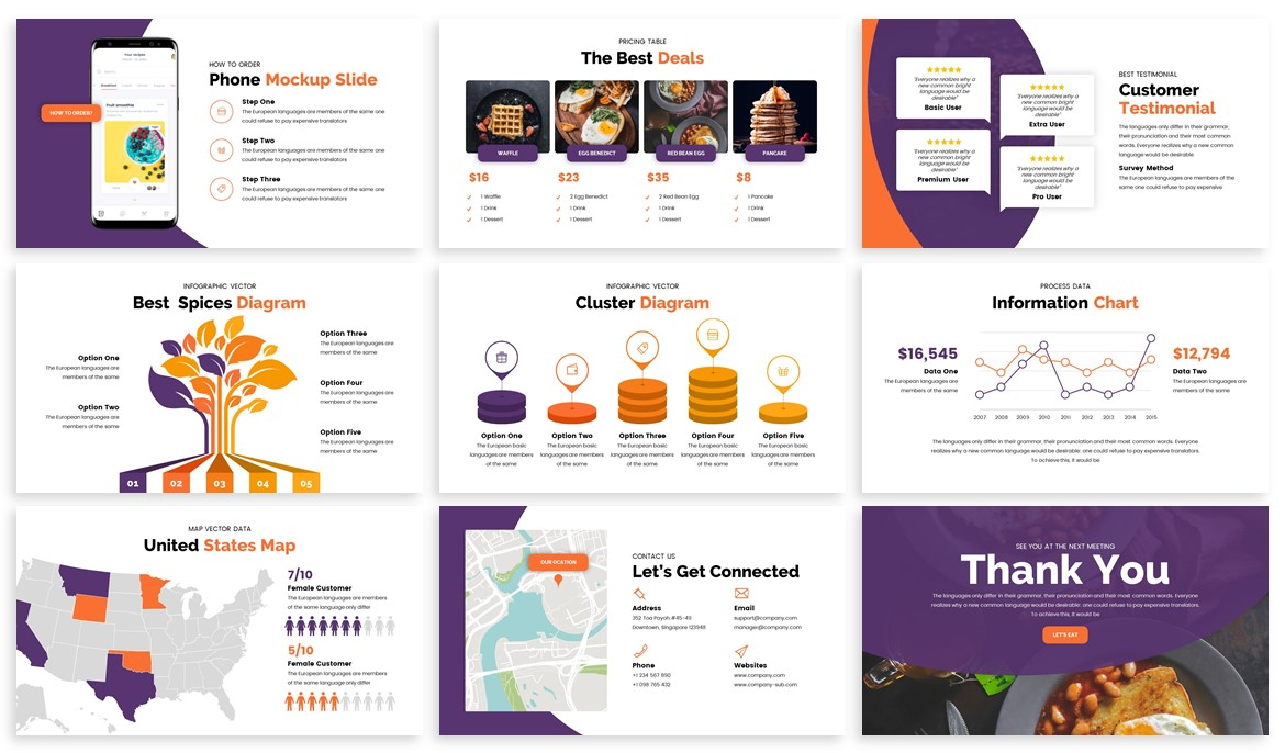 Foodey - Culinary Powerpoint Template example image 4
