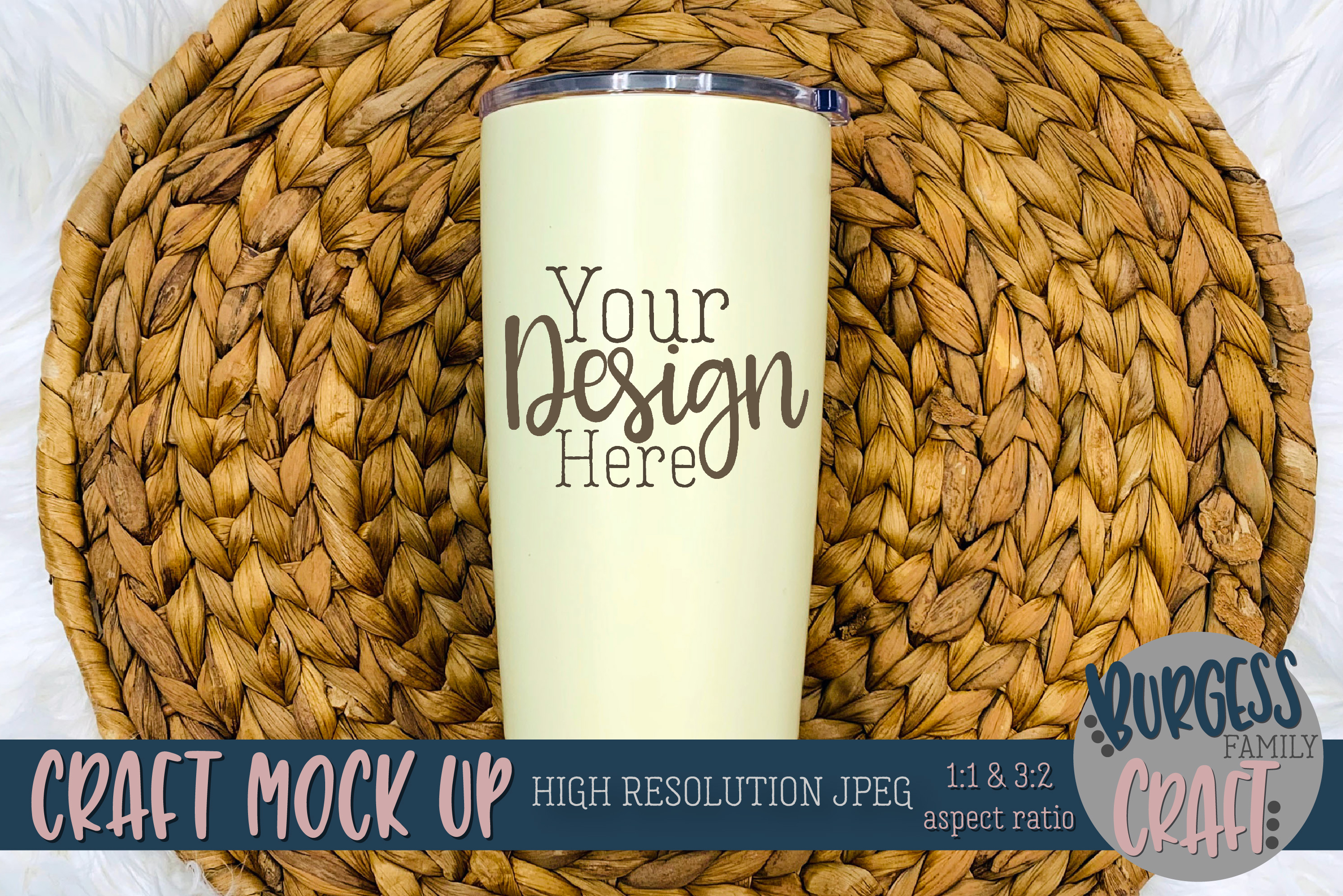 Stainless steel tumbler Craft mock up |High Resolution JPEG example image 3