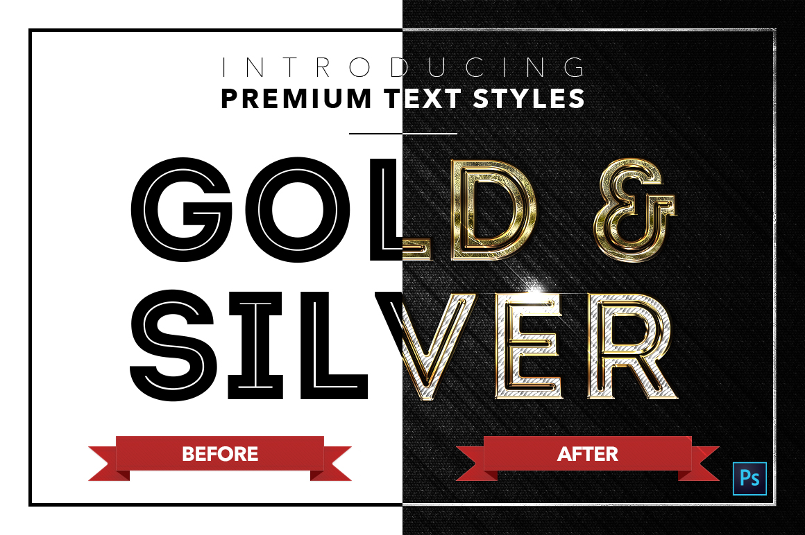 Gold & Silver #3 - 15 Text Styles example image 4