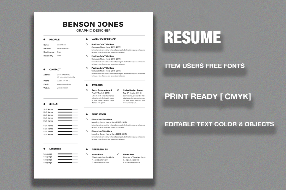 Resume/CV example image 2