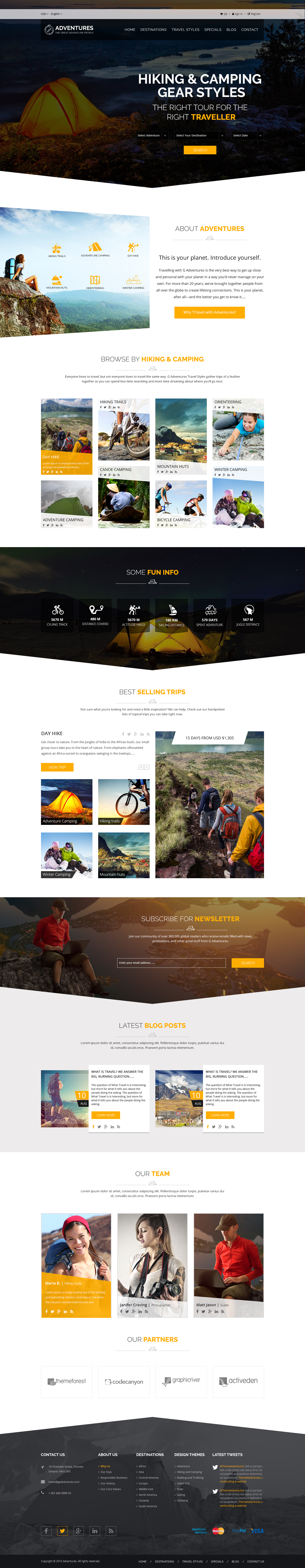 Adventures and Tour PSD Template example image 3