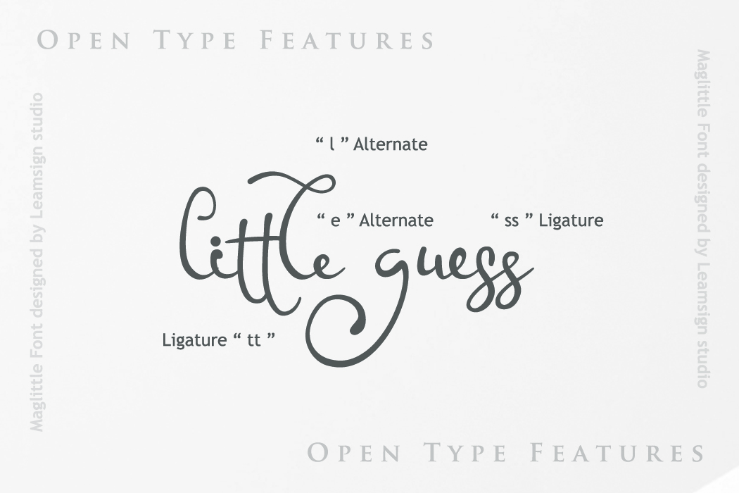 Maglittle Font example image 5