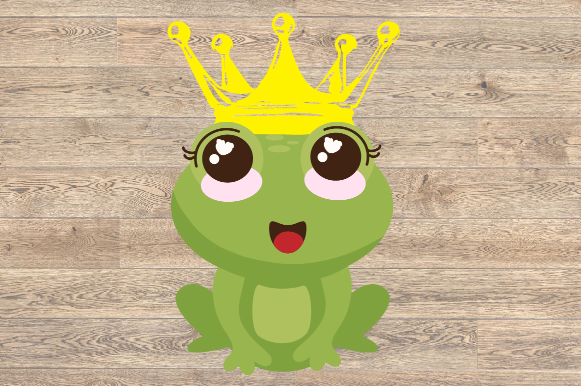 Frog Prince Charming SVG Crown Fairy Tale 1267S example image 2