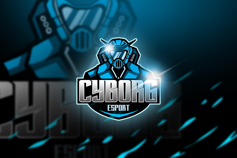 cyborg blue - Mascot & Esports Logo