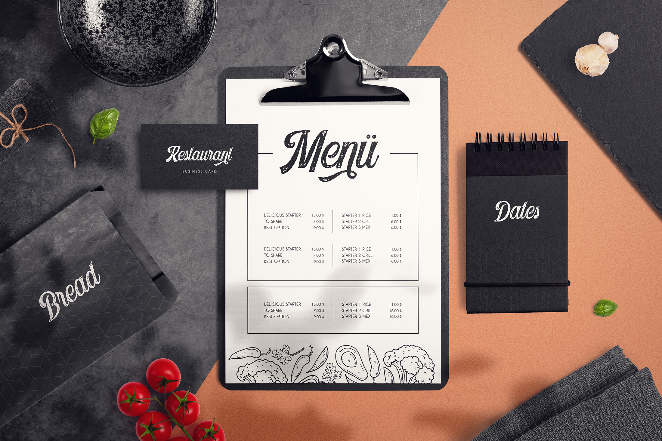Food & Restaurant Mockup Collection example image 3