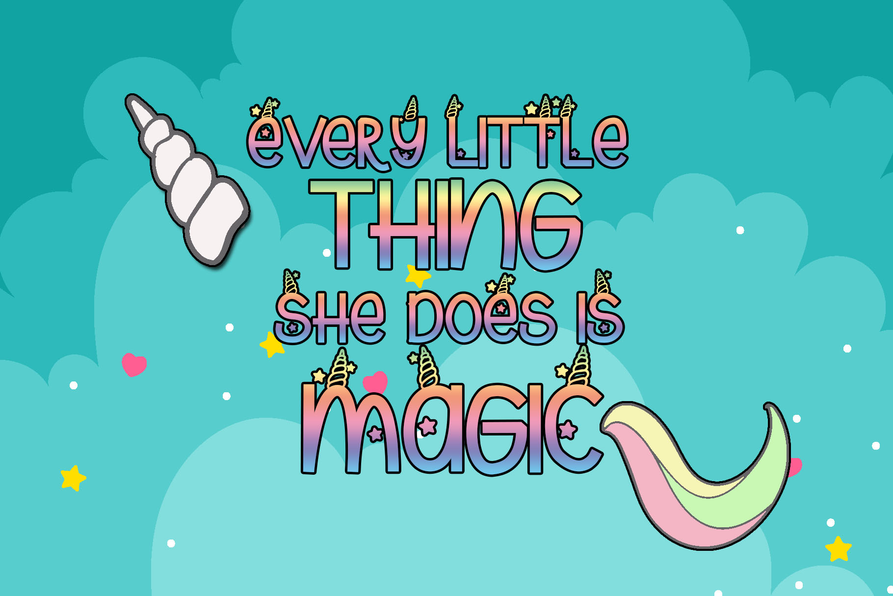 Unicorn Magic - Magical Typeface example image 2